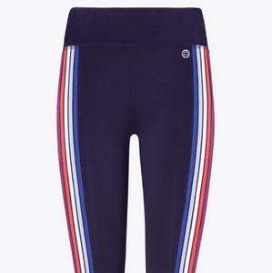 Tory Burch Multi-coloured side-striped Leggings